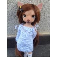 ALBU-BRN Mimi x Hujoo 28cm Dog Bjd Body Albu Min Pin Doll Brown
