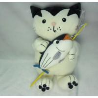Jacob Cat 25cm Stuffed Plush - Enjoy Fishing Bonito JC25121B