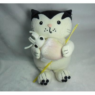Jacob Cat 25cm Stuffed Plush - Enjoy Fishing Squid JC25125B