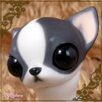 KHP001G Hujoo Pet Resin Doll Wawa Makeup Dog Figure Full Set