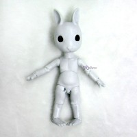 KLM01-GRY Hujoo Mini Bunny Bjd Nude Doll Little Minipin Grey