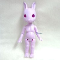 KLM01-PUE Hujoo Mini Bunny Bjd Nude Doll Little Minipin Purple