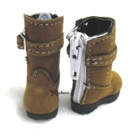 LYS015BRN Lati Yellow Blythe Shoes Velvet Buckle Boots Brown