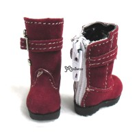 Lati Yellow Blythe Shoes Velvet Buckle Boots Red LYS015RED