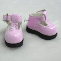 LYS022PNK 16cm Lati Yellow Basic Doll T-Strap Buckle Shoes Pink