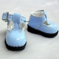 LYS022BLE 16cm Lati Yellow Basic Doll T-Strap Buckle Shoes Blue