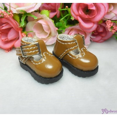 16cm Lati Yellow Basic Doll T-Strap Buckle Shoes Brown LYS022BRN