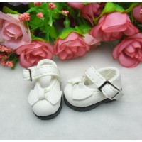 16cm Lati Yellow Basic Doll Bow Buckle Mary Jane Demin Shoes White  LYS024WHE