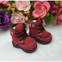 16cm Lati Yellow Basic Blythe Pullip Shoes Velvet Hole Boots Red LYS025RED