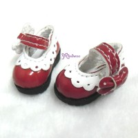 SHP112RED 16cm Lati Yellow Mary Jane Strap Shoes Red