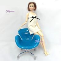 1/6 Bjd Doll Design Chair Small Blue 980873