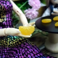 1/6 Bjd Doll Miniature Mini Orange Slice (5pcs Set) TPS033RAE