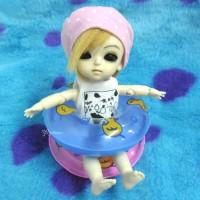 TSF019BLE 1/6 Bjd Yo-SD Blythe Miniature Mini Swim Ring Blue