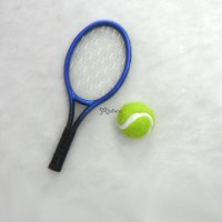 Blythe 1/6 Doll Miniature Tennis Racket + Ball Blue YC0074BLE