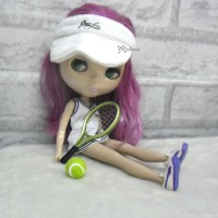Blythe 1/6 Doll Miniature Tennis Racket + Ball Green YC0074GRN