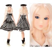 Momoko Shirley Temple 1/6 Girl 27cm Fashion Doll Marine Stripe Dress 219766