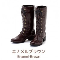 Petworks CCS Shoes Mid-Calf Lace-Up Boots Brown fit Momoko & Ruruko 250635