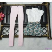 Sekiguchi Momoko Fashion Outfit Blouse, Pink Pants, Floral Short Pants MDS-01