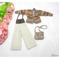Sekiguchi Momoko Fashion Outfit Knit Coat Outer, Gaucho Pants and Shoulder Bag MDS-04