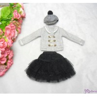 Sekiguchi Momoko Fashion Outfit - Wool Casquette Cap ,Duffle Coat, Tulle Skirt MDS-08