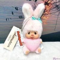 Monchhichi SS Size Warm Knit Big Head Chimutan Bunny Mascot 200672
