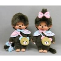"""Monchhichi 45th Anniversary Happy Trip S Size Boy & Girl 201129+201136  """"PRE-ORDER"""""""