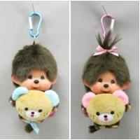 "Monchhichi 45th Anniversary Happy Trip SS Mascot Boy & Girl 201112+201150 ""PRE-ORDER"""