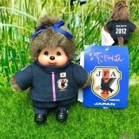 "Monchhichi Plush Mascot Keychain Football 2012 Blue Girl 201270 ""Pre-Order"""