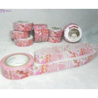 Monchhichi 40th Anniversary Masking Tape Camouflage Heart ~ MADE in JAPAN ~ 203610