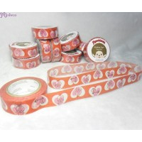 Monchhichi 40th Anniversary Masking Tape Enjoy Love ~ MADE in JAPAN ~ 203620