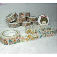 Monchhichi 40th Anniversary Masking Tape Matrioshka ~ MADE in JAPAN ~ 203640