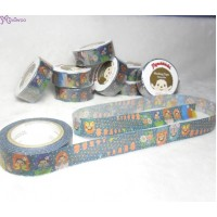 Monchhichi 40th Anniversary Masking Tape Matrioshka ~ MADE in JAPAN ~ 203650