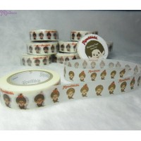 Monchhichi 40th Anniversary Masking Tape Simple Line ~ MADE in JAPAN ~ 203660