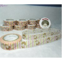Monchhichi 40th Anniversary Masking Tape Patel Border ~ MADE in JAPAN ~ 203670