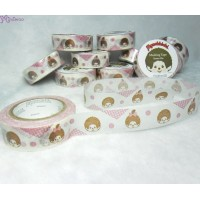 Monchhichi 40th Anniversary Masking Tape Cute ~ MADE in JAPAN ~ 203680