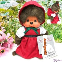 Monchhichi S Size Plush Red Hat Girl 220434 NEW ARRIVAL