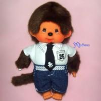 Sekiguchi Monchhichi S Size Dressed Tie Shirt Jeans Boy 222700