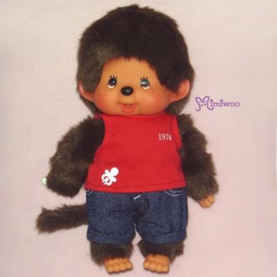 Sekiguchi Monchhichi S Size Dressed Red Tanktop & Jeans Boy 222710