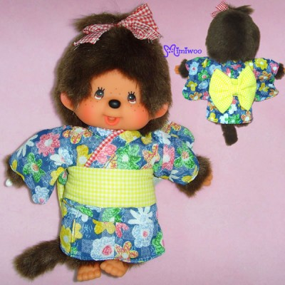 Monchhichi 2010 Dressed MCC S Size Plush Yukata Girl 222720