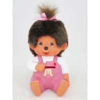 Monchhichi Plastic Money Savings Coin Bank Pink Girl PRE-ORDER 229895