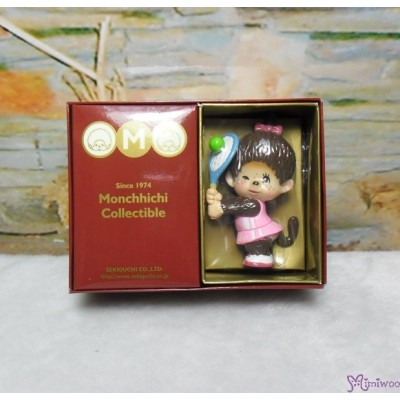 Micro Monchhichi Collectible 6cm Plastic Figure Sport - Tennis  229956-1
