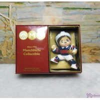 Micro Monchhichi Collectible 6cm Plastic Figure Sport - Rugby 229956-2