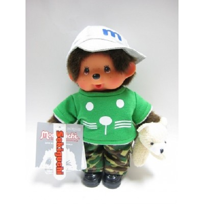 "Monchhichi S Size 8"" Plush MCC Doggy Trainer Boy 232030"