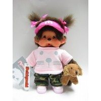 "Monchhichi S Size 8"" Plush MCC Doggy Trainer Girl  232040"