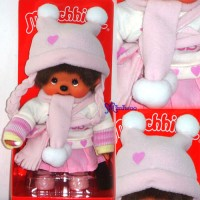 Monchhichi 20cm S Size Fashion Pinky Sweater Girl 232450