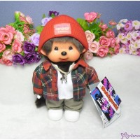 Monchhichi 20cm S Size Fashion Checker & Knit Cap Boy 232470