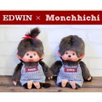 Edwin x Monchhichi Ver. 2 Limited M Size Overall Jeans BOY & GIRL 232547+232581