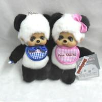 Monchhichi Plush 20cm S Size Panda MCC Panchhichi Boy & Girl 233180 + 233190