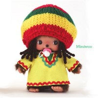 Bebichhichi Monchhichi Baby Plush BBCC Jamaica Boy 234300