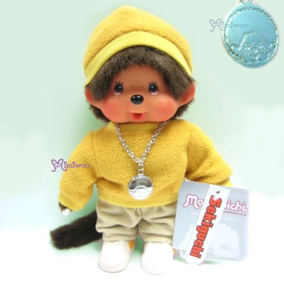 Monchhichi 20cm Fleece Cap & Sweat Girl Yellow 236040
